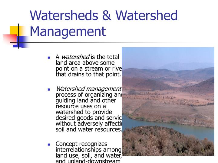 Watersheds watershed management