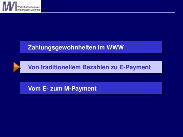 Von traditionellem Bezahlen zu E-Payment