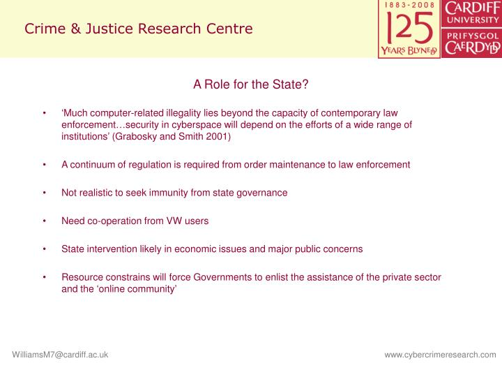 Crime & Justice Research Centre