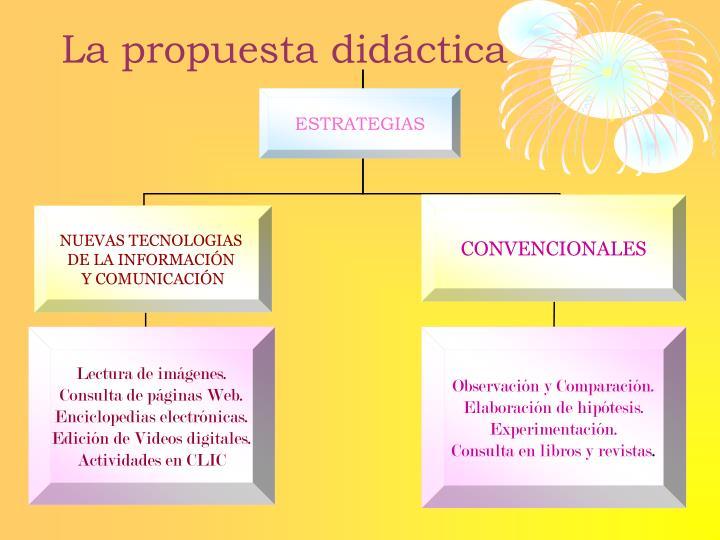 La propuesta didáctica