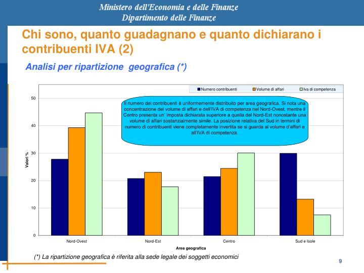 Chi sono, quanto guadagnano e quanto dichiarano i contribuenti IVA (2)