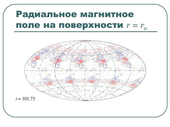 Радиальное магнитное поле на поверхности
