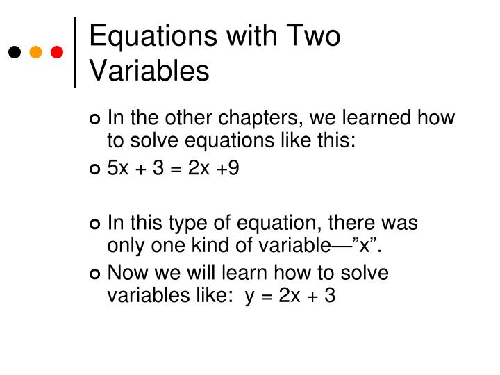 Equations with two variables1
