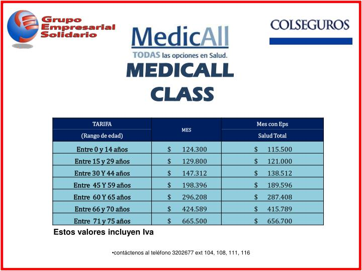MEDICALL CLASS