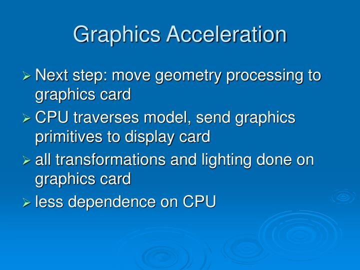 Graphics Acceleration
