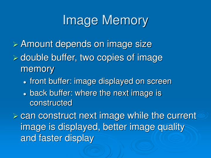 Image Memory