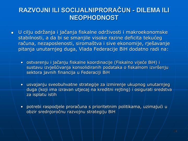 RAZVOJNI ILI SOCIJALNIPRORAČUN