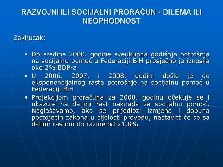 RAZVOJNI ILI SOCIJALNI PRORAČUN