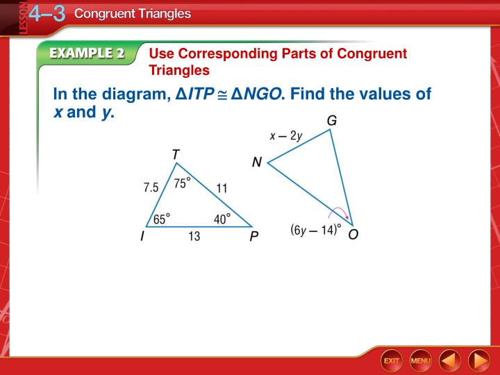 Use Corresponding Parts of Congruent Triangles
