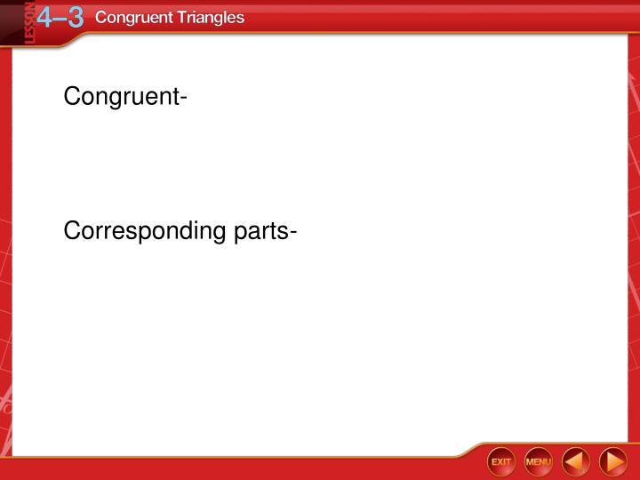 Congruent-