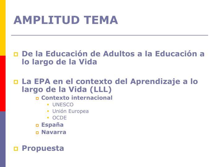 De la Educación de Adultos a la Educación a lo largo de la Vida