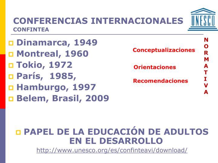 CONFERENCIAS INTERNACIONALES
