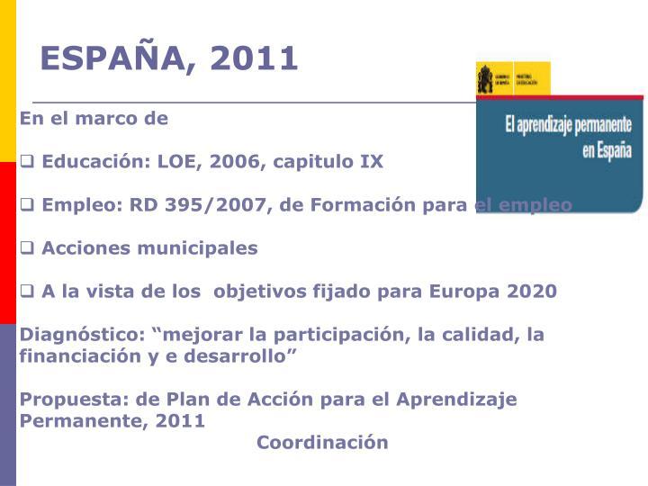 ESPAÑA, 2011
