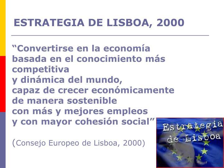 ESTRATEGIA DE LISBOA, 2000