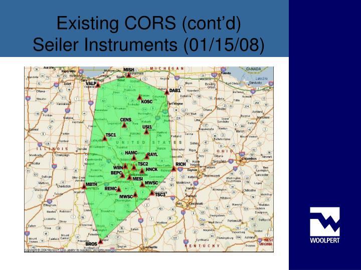 Existing CORS (cont'd)