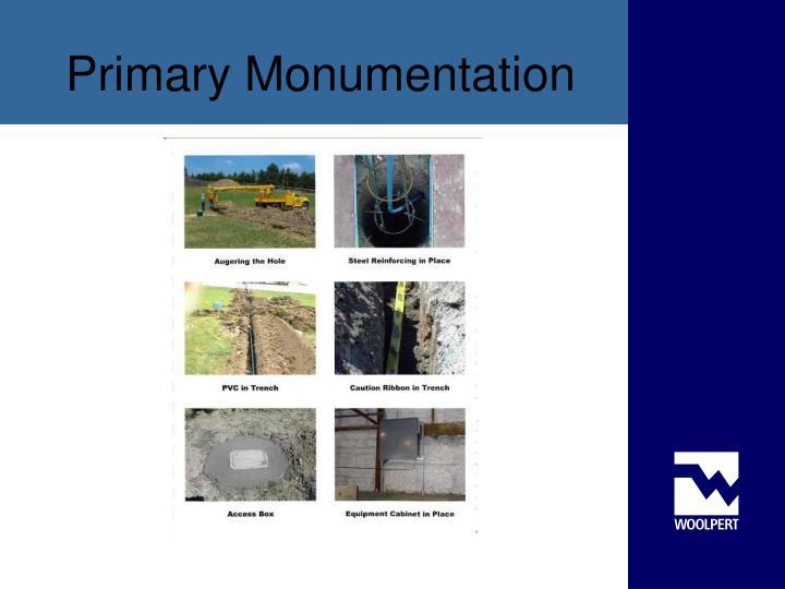 Primary Monumentation