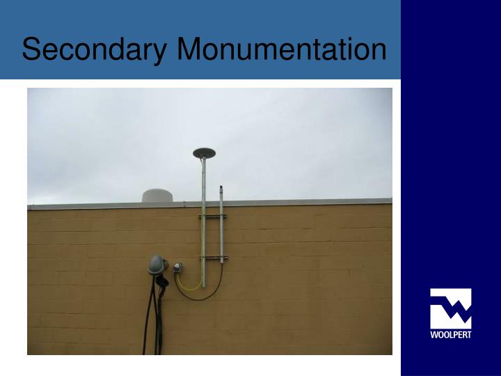 Secondary Monumentation