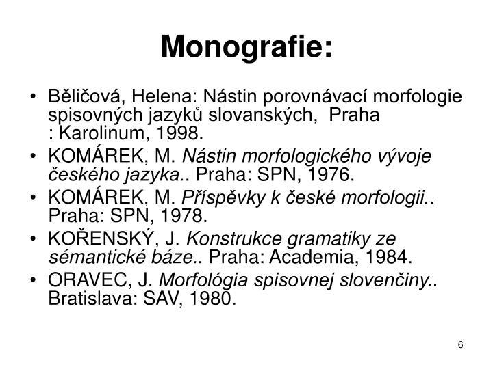 Monografie: