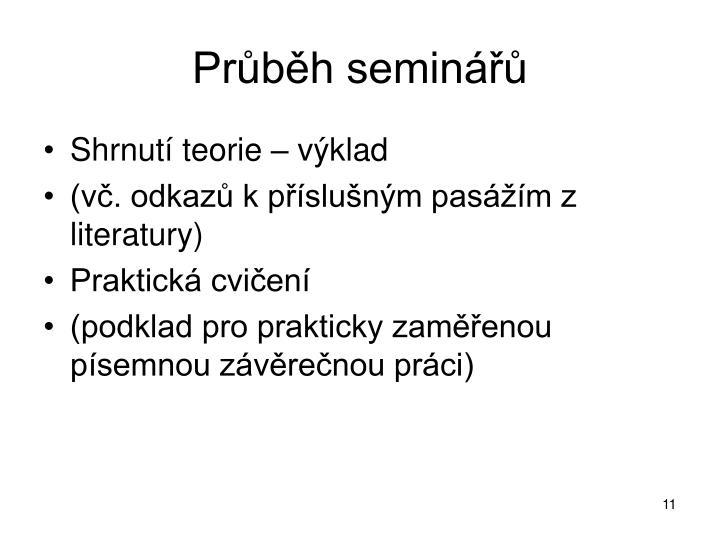 Průběh seminářů