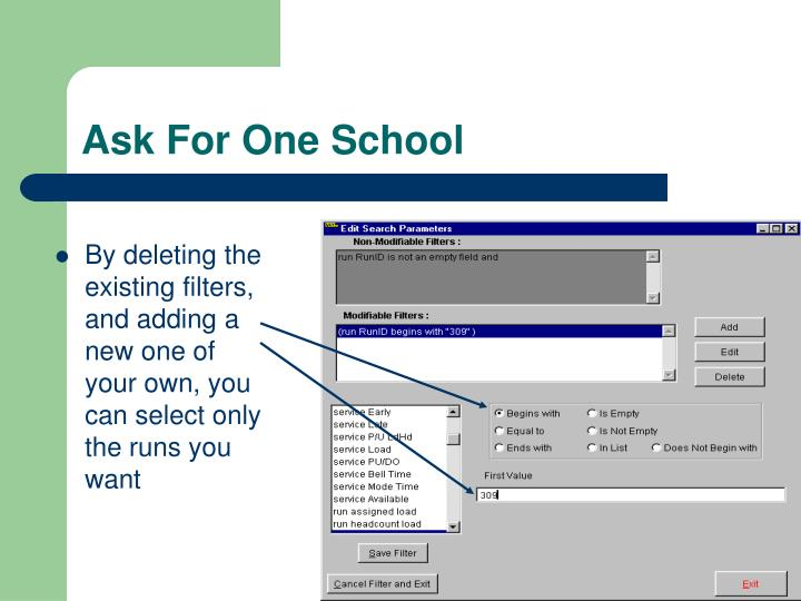 Ask For One School