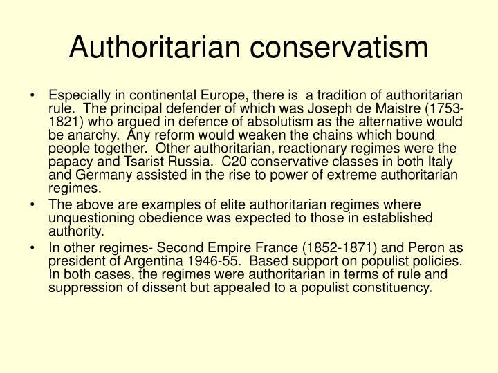 Authoritarian conservatism