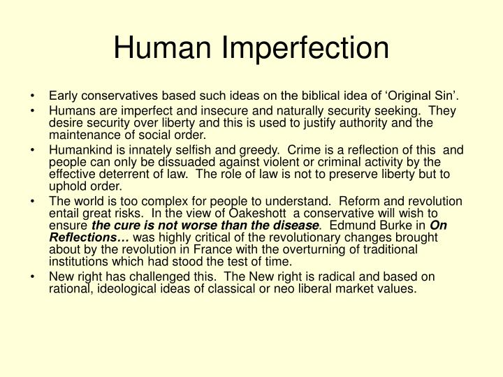 Human Imperfection