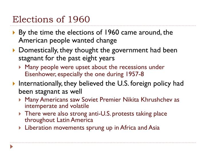 Elections of 1960