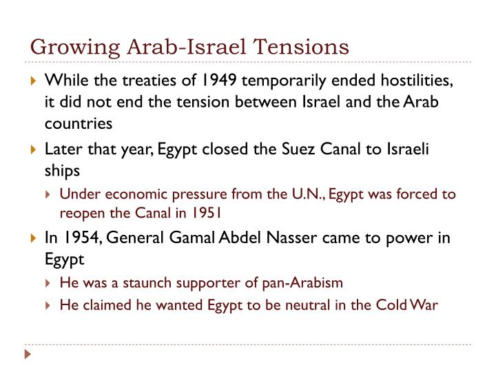 Growing Arab-Israel Tensions