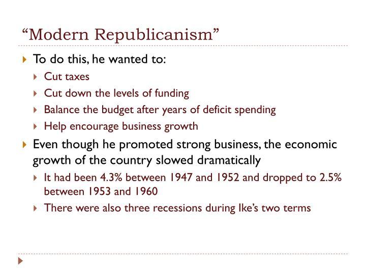 """""""Modern Republicanism"""""""