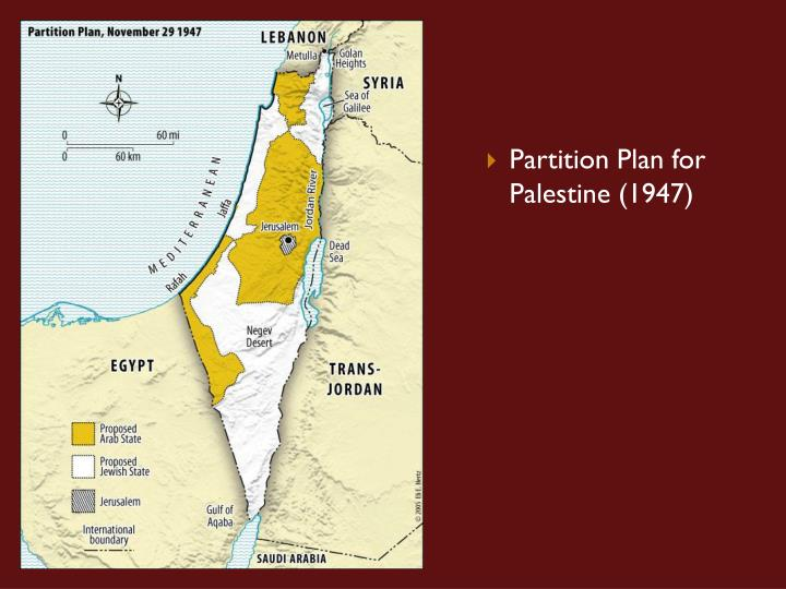 Partition Plan for Palestine (1947)