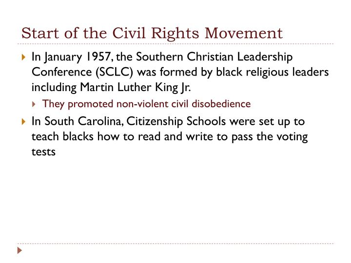 Start of the Civil Rights Movement
