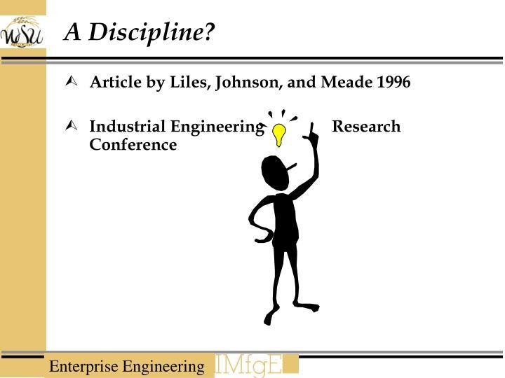 A Discipline?