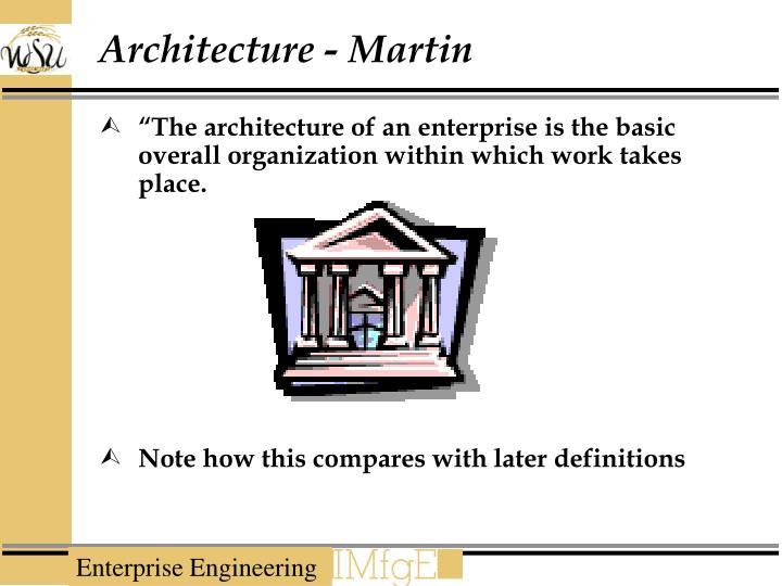 Architecture - Martin