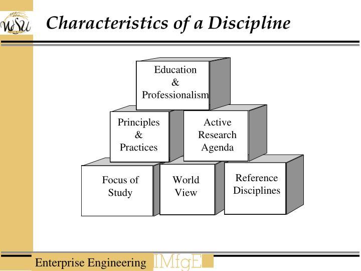 Characteristics of a Discipline