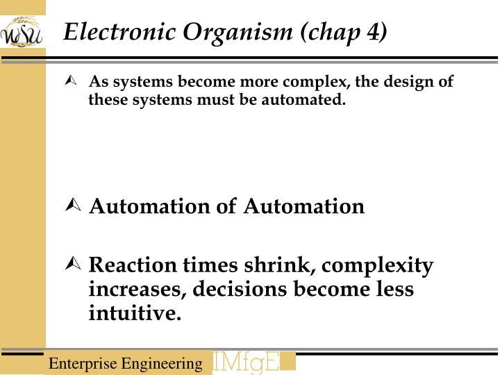 Electronic Organism (chap 4)