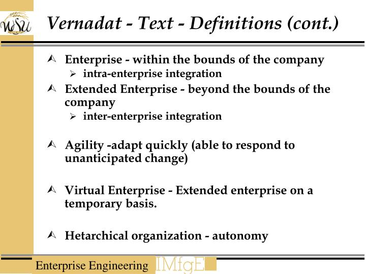 Vernadat - Text - Definitions (cont.)