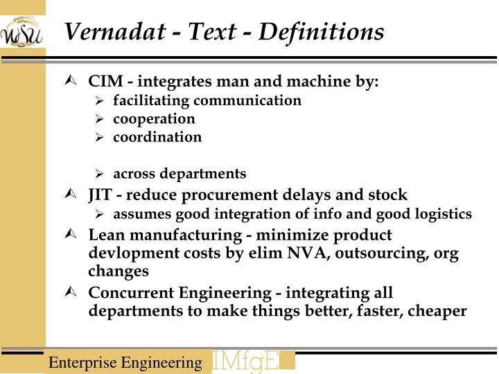Vernadat - Text - Definitions