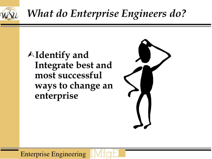 What do Enterprise Engineers do?