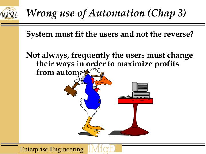 Wrong use of Automation (Chap 3)