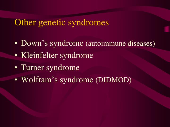 Other genetic syndromes