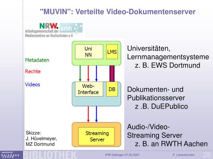 """""""MUVIN"""": Verteilte Video-Dokumentenserver"""
