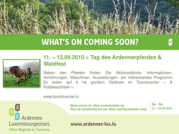 11. – 12.09.2010 > Tag des Ardennerpferdes & Waldfest