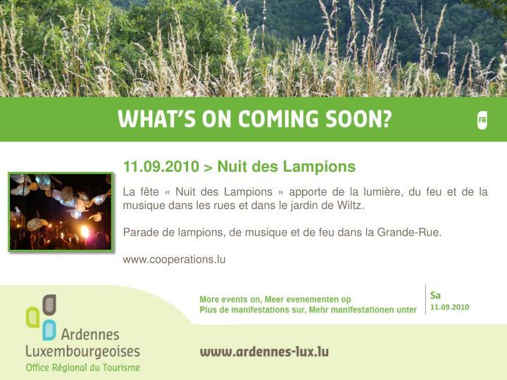 11.09.2010 > Nuit des Lampions