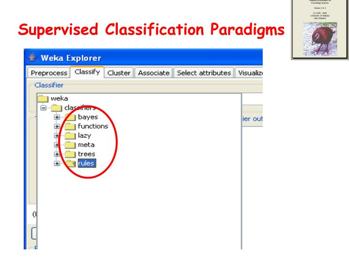 Supervised Classification Paradigms