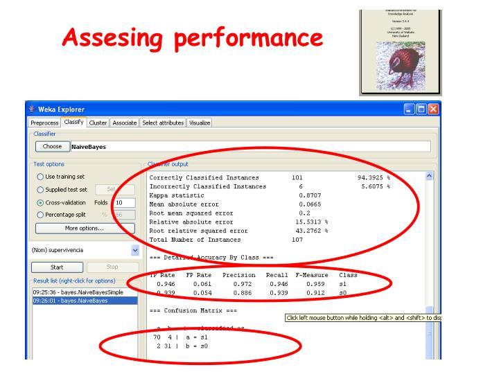Assesing performance