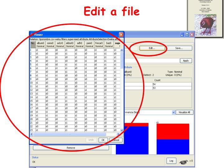 Edit a file