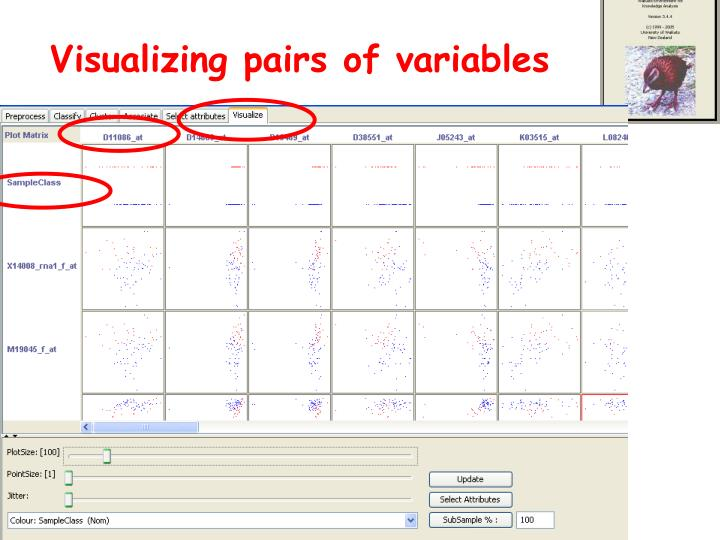 Visualizing pairs of variables