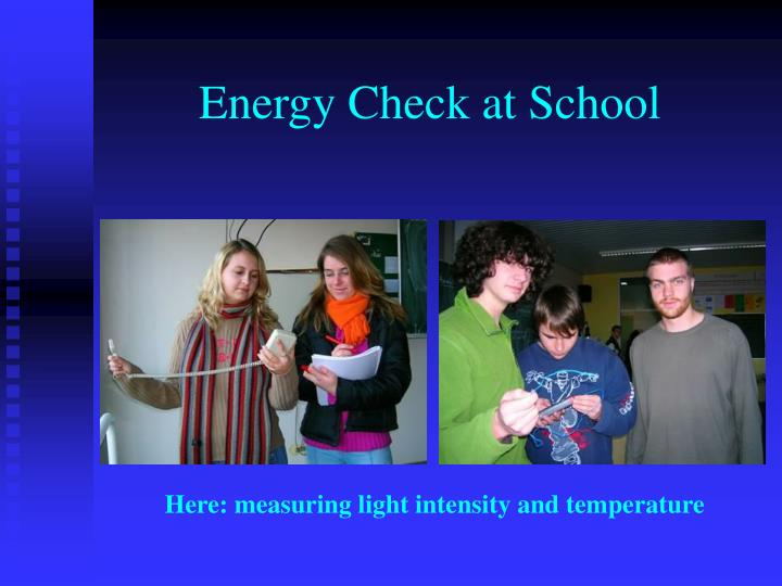 Energy Check at School