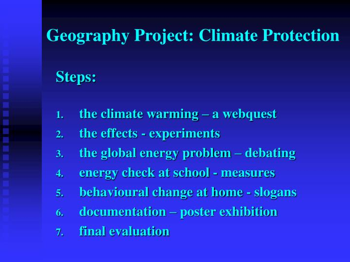 Geography Project: Climate Protection