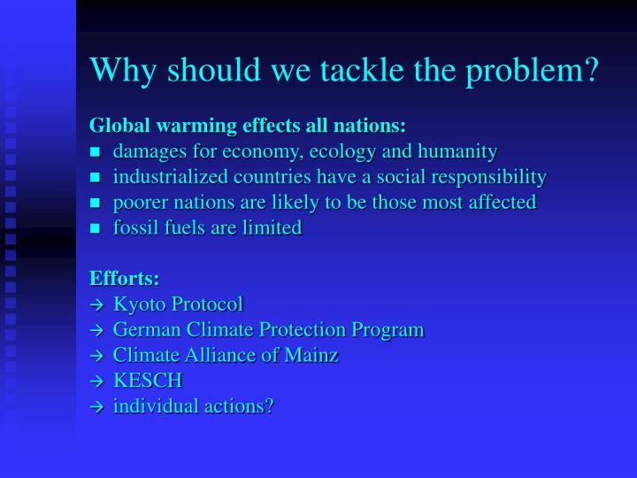 Why should we tackle the problem?